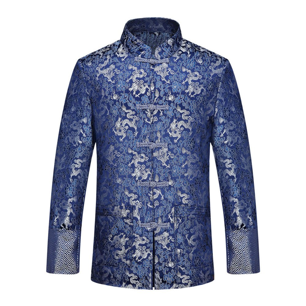 Men's Chinese Traditional Festivals Tang Suit Brocade Jacquard Dragon Kung Fu Jackets