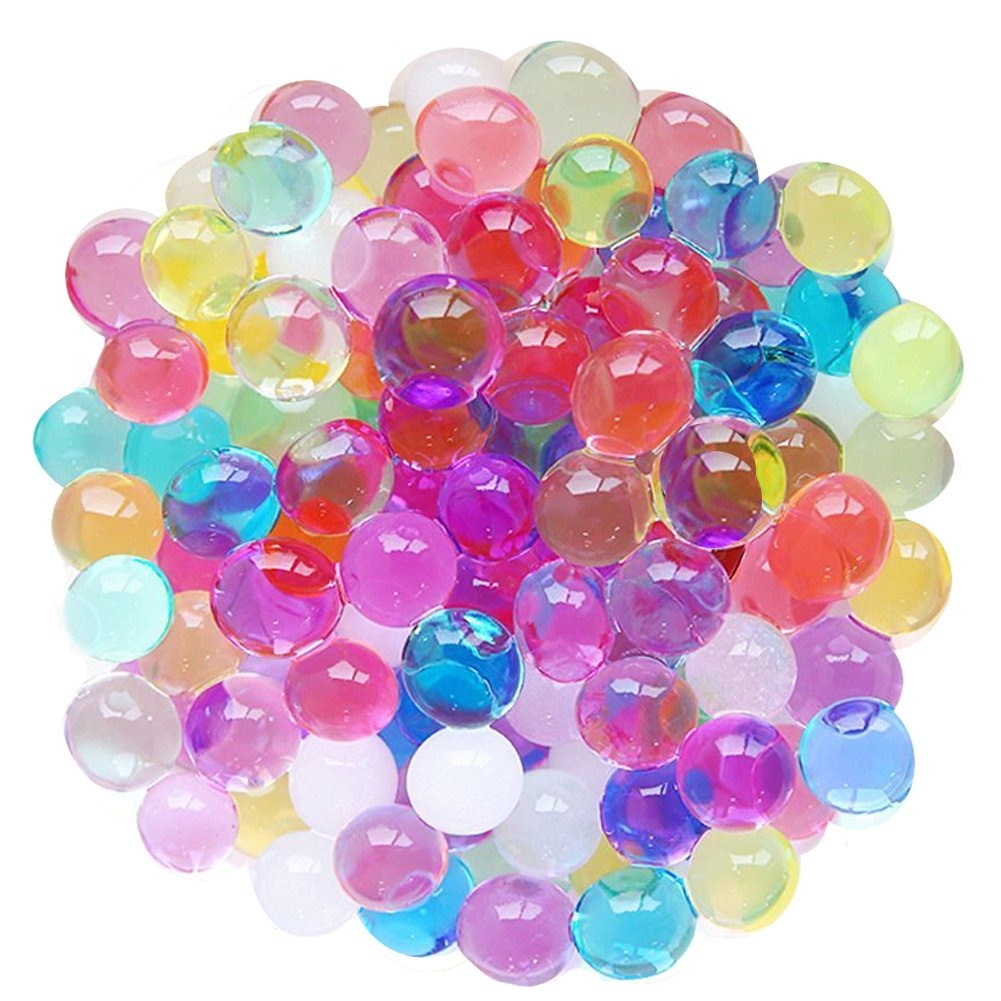 LEFV™ Water Gel Pearls Beads for Home Decoration Wedding Centerpiece Vase Filler Plants Toys Education Games 10000pcs(Mix Rainbow Color)