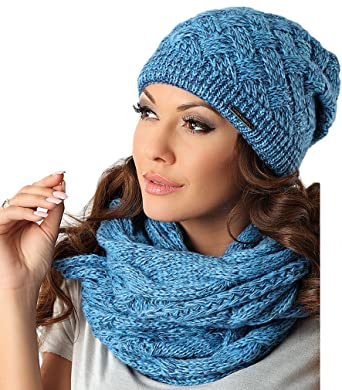 gamme exceptionnelle de styles mode la plus désirable premier coup d'oeil Pawonex Kit Bonnet en tricot Loop Écharpe d'hiver en coton ...