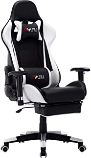 EDWELL Ergonomic Gaming Chair with Headrest,Lumbar Massage Support Racing Style PC Computer Chair Height