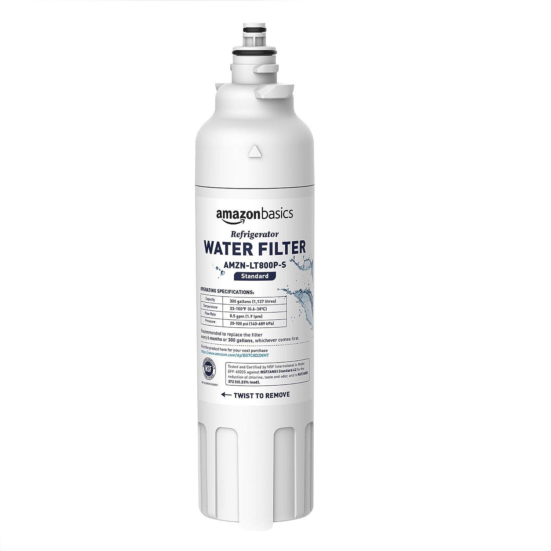 AmazonBasics Replacement LG LT800P Refrigerator Water Filter - Standard Filtration