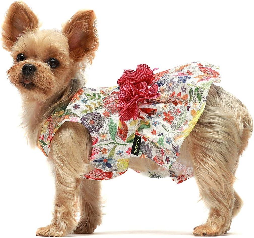 Pet Flower Girl Patchwork Dog Dress Dress for Dog S...Dog Dress Wedding Pet Brithday Dress Pet Dress Dress for Pets Pet Apparel XS