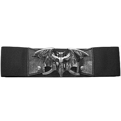 c957b1048d Kreepsville 666 Elastic Waist Belt Bat Silver Elastic Split Buckle  Fastening (2XL 3XL)
