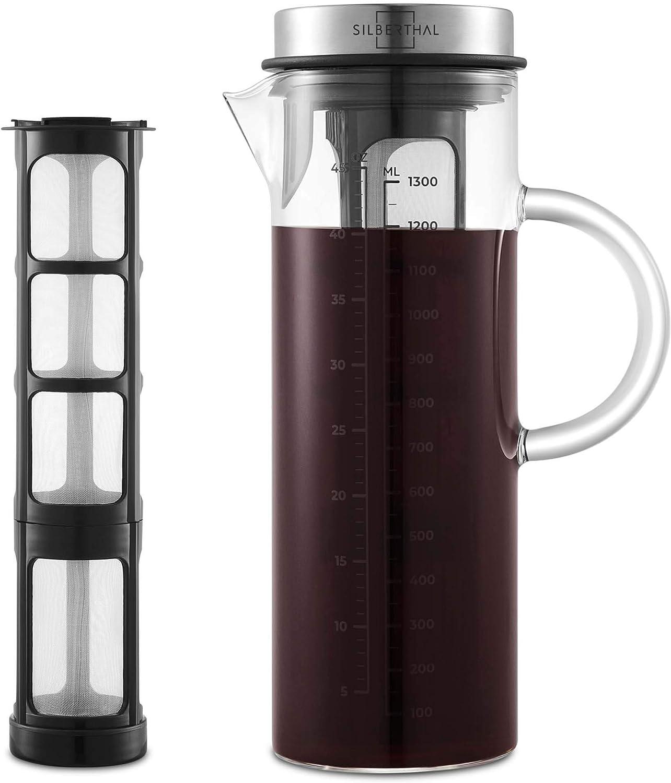 SILBERTHAL Cold Brew Coffee Maker | Cafetera Fria 1,3l | Jarra de ...