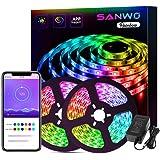 LED Strip Lights - 32.8ft Dream Color LED Light Strip App Controlled, 12V SMD 5050 Flexible RGB Waterproof LED Strip…