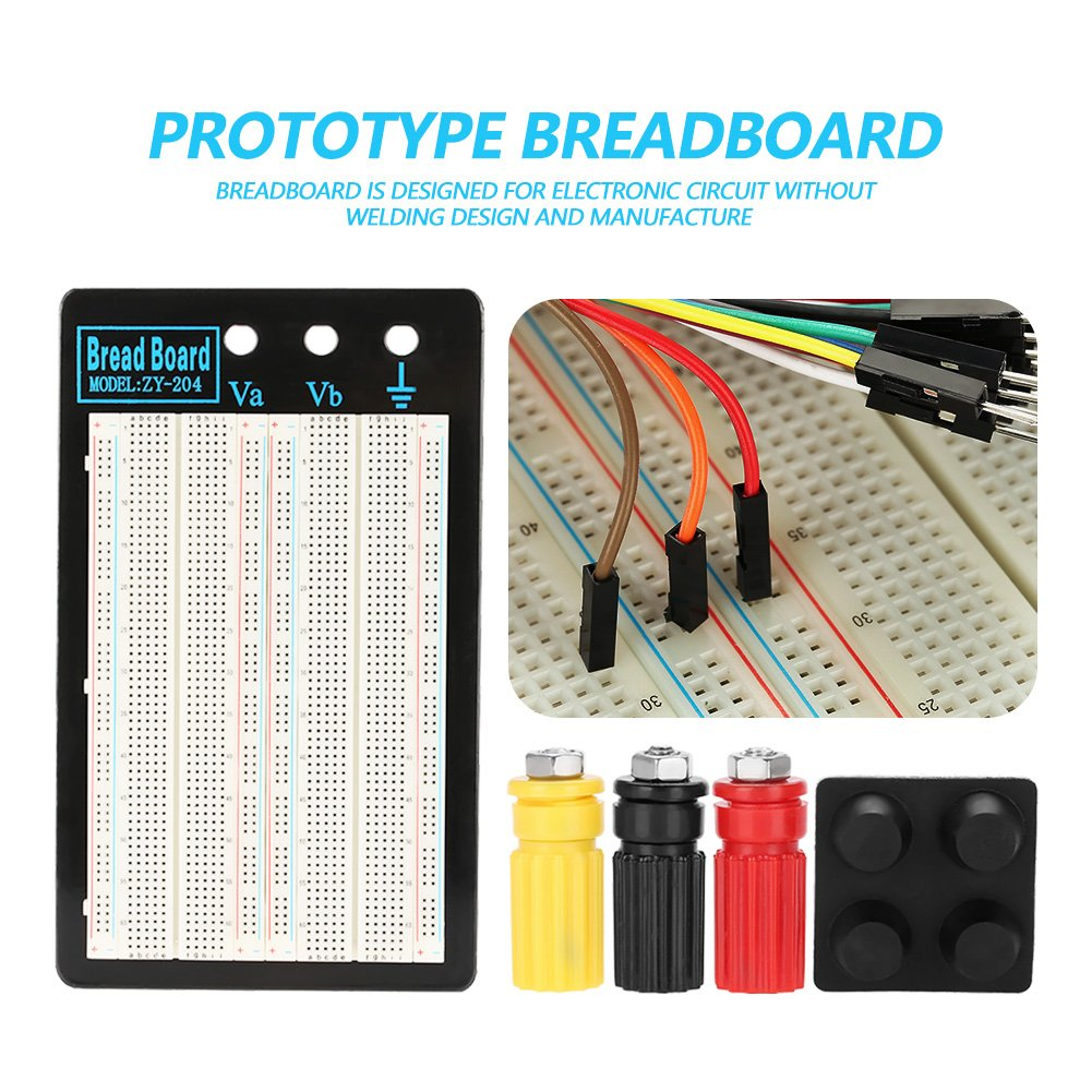Akozon 1660 Points Holes Plug In Breadboard Test Bed Breadboards Are Used To Prototype Electronic Circuits Without Having Free Solder Circuit Electronics