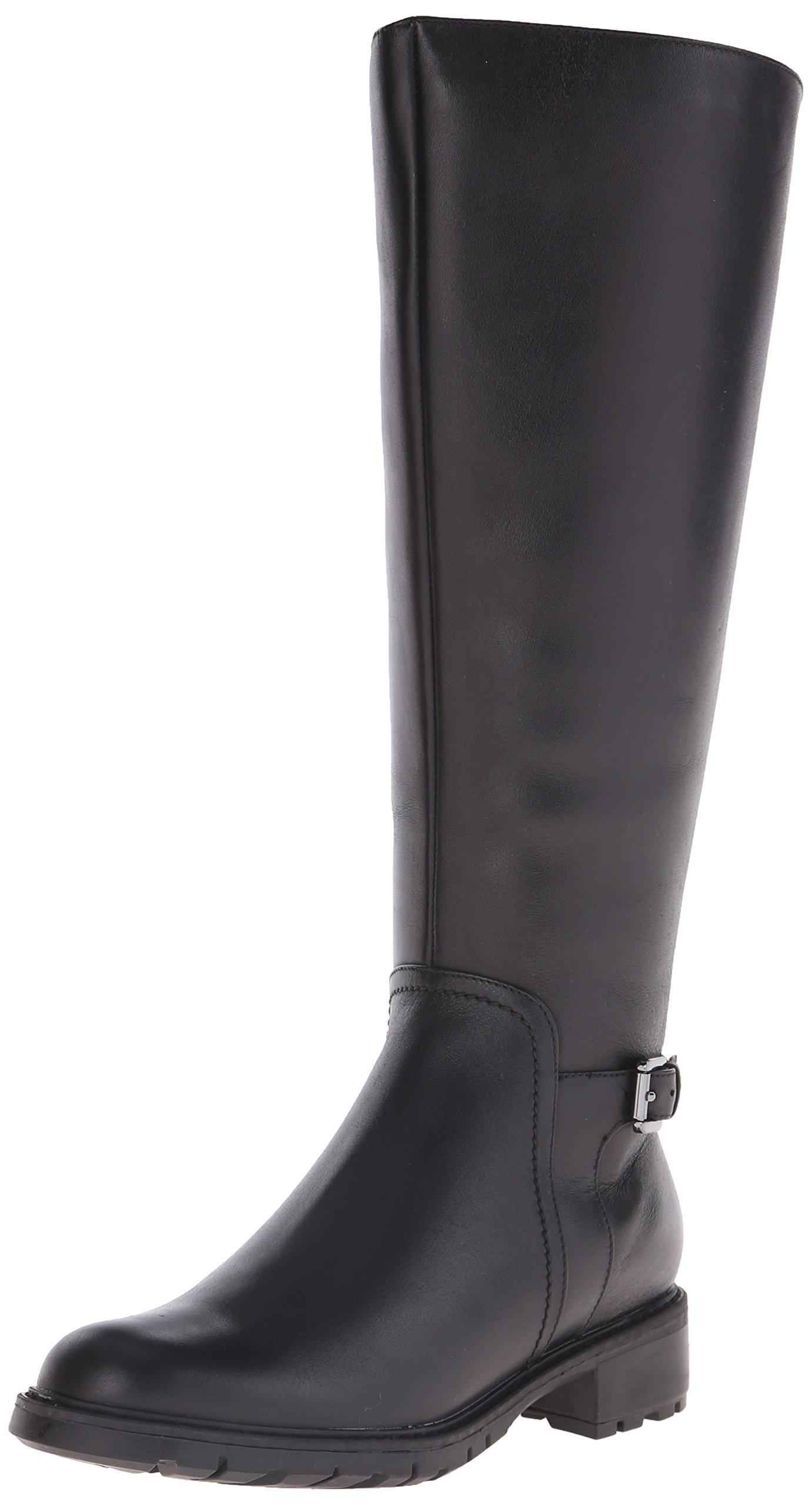 Blondo Women's Vassa Ws Waterproof Riding Boot, Black Leather, 9 M US