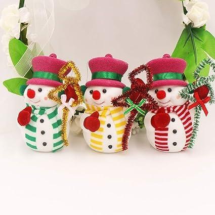 1 sets 3 pcsset snowman dolls pendants toys ornament christmas gifts toddler