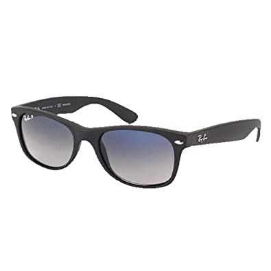 96e36063ae Image Unavailable. Image not available for. Color  Ray Ban RB2132 Wayfarer  601S78 Matte Black Blue Gradient 52mm Polarized Sunglasses