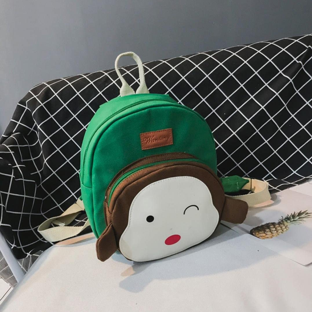 Green Malbaba Child Baby Girl/&Boy Kids Cartoon Monkey Animal Backpack Toddler School Bag