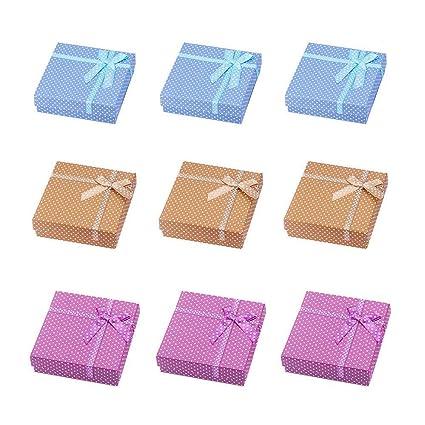 Pandahall – Cajas redondas de cartón para anillo – Ideal para San Valentín – 55 x