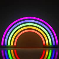 ZWOOS Luz de neón para dormitorio - Señales luminosas LED alimentada por batería o USB - Iluminación nocturna para…
