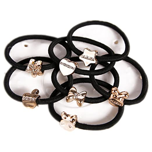 50PCS Cute Girls Hair Tie Bands Rabbit Ear Hair Tie Bands Ropes Ponytail  Holder Bow Tie 881eb6af1c4