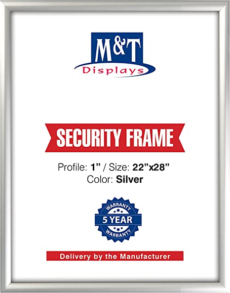 "22/""  x  28/"" Silver Aluminium Poster Snap Frame 1/"" Profile"