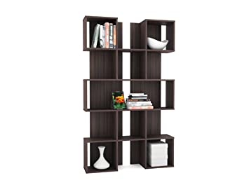 SONAX WL 7208 Contemporary Ebony Pecan Bookshelf