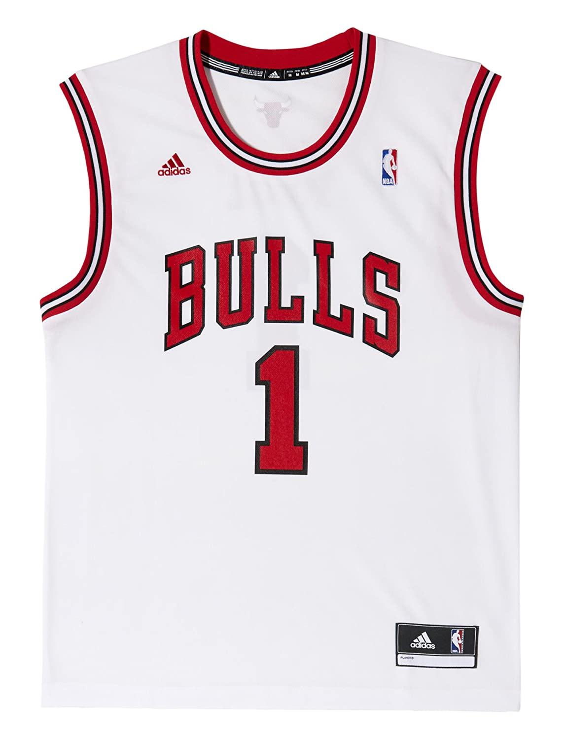 8c3a723d4 adidas Derrick Rose NBA Swingman Bulls Men s Basketball Jersey   Amazon.co.uk  Sports   Outdoors