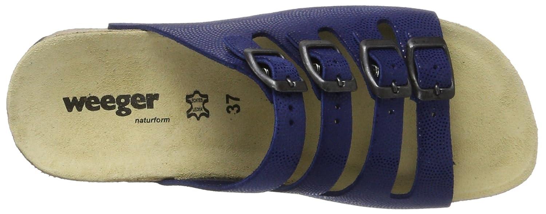11460, Zuecos para Mujer, Azul (Blau Royalblau), 38 EU Weeger