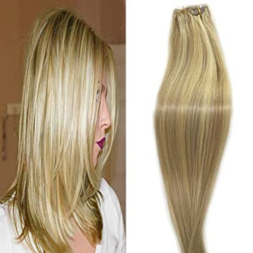 Amazon Com Hair Extensions Clip Ins Remy Hair Beige Blonde With