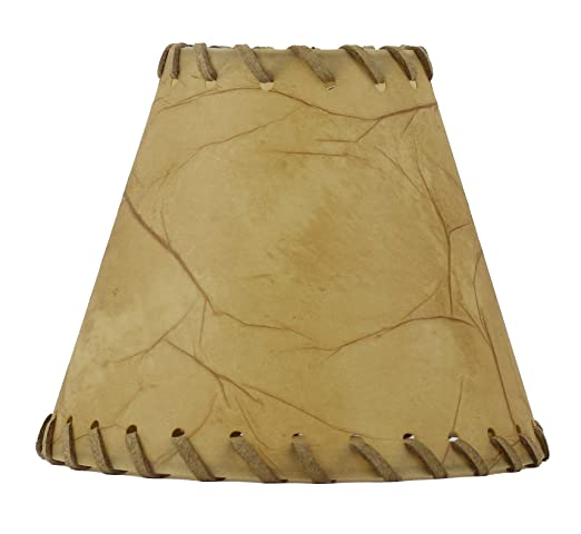 Urbanest 1100504 chandelier lamp shades 6 inch hardback faux leather laced trim