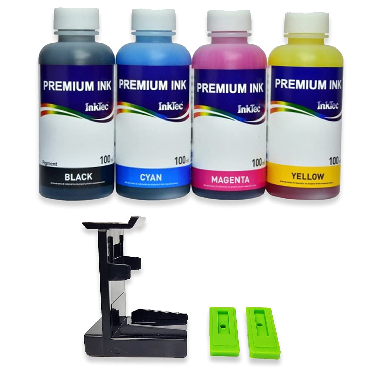 Кit ricarica cartucce HP N° 302, 302 XL nero e colore, Inchiostro Stampa Continua di altà qualità + refill clip
