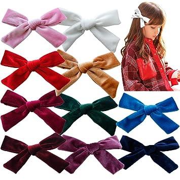 Children Velvet Bow Hair Clip Solid Cute Barrette Alligator Clip Hair Accessory