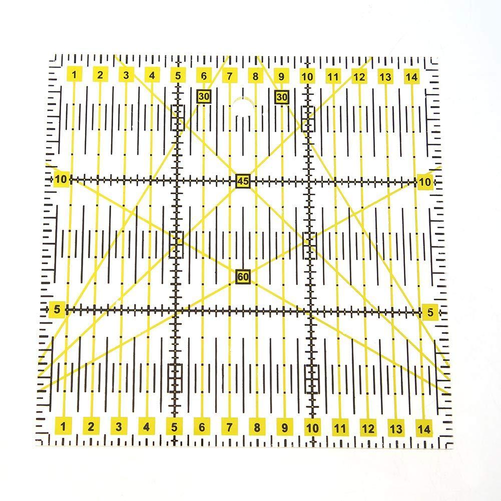 Matefielduk Regla de Patchwork,Regla Acolchado Regla Cuadrada Patchwork de Acr/ílico para DIY Costura y Patronaje 15 * 15cm