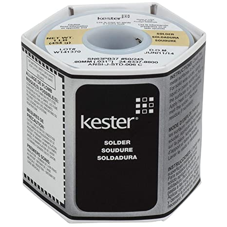 Kester Solder Wire | Kester 24 6337 8800 50 Activated Rosin Cored Wire Solder Roll 245