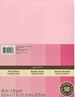 Recollections Cardstock Paper, 8 1/2 X 11 Pink Buttons - 50 Sheets