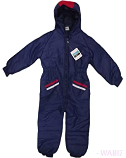 cdca6cf90551 Kids Insulated Padded Snow Suit Cozy Winter Girls Boys Baby All-in ...