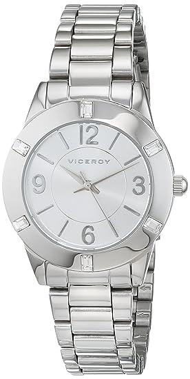 Viceroy 40922-05 FMB_BM - Reloj analógico de cuarzo para mujer, plateado: Amazon.es: Relojes