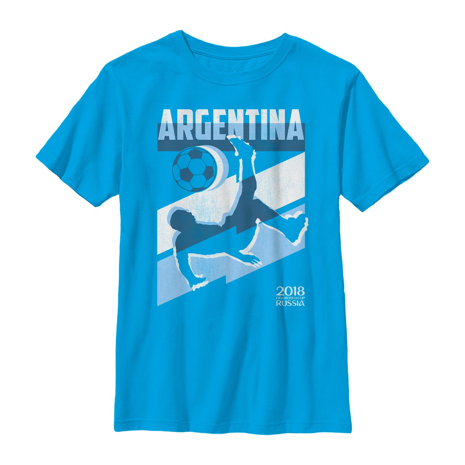 FIFA World Cup Russia 2018 Boys' Argentina Player Silhouette Turquoise T-Shirt