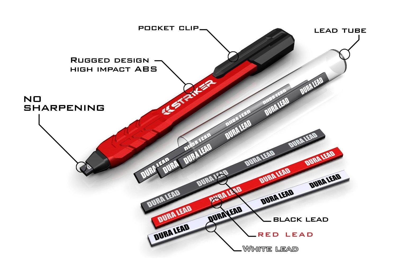 Push Pull Cables >> Galleon - Striker 77629 Mechanical Carpenter Pencil