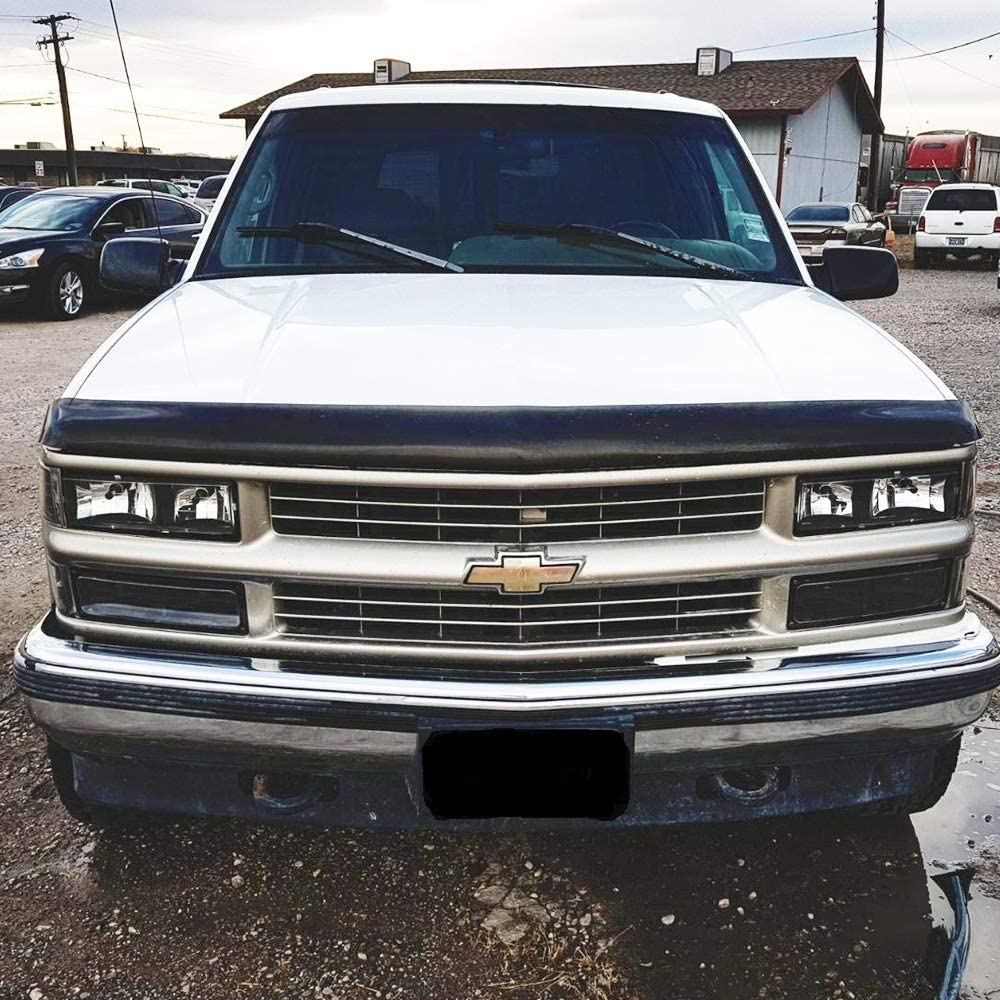 Headlight Assembly for 94-98 Chevy C//K 1500 2500 3500 Tahoe Suburban Silverado Headlamps Replacement Driver and Passenger Side+Bumper /& Corner Lights(Black
