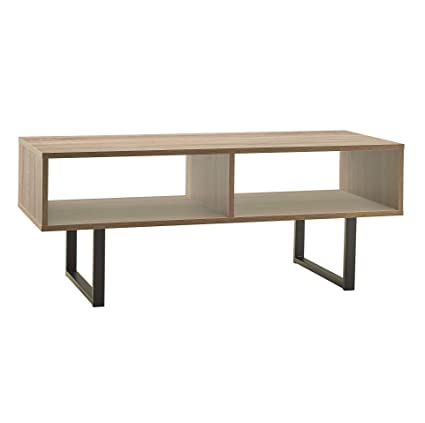 Delicieux ClosetMaid 1315 Rectangular Wood Coffee Table With Storage Shelves, Gray