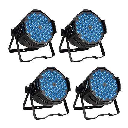 BETOPPER Par Lights DJ LED Wash Lighting Stage Light (4 pcs Pack)