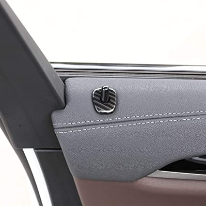 para X3 X4 G01 G02 2018 2019 Juego de 4 tapones de fibra de carbono ABS para puertas de coche