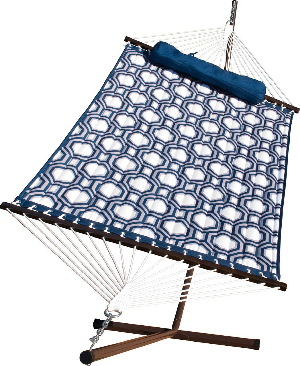 Algoma Quilted Hammock and Stand Combination, 275 lbs. Cap 11 L, Blue