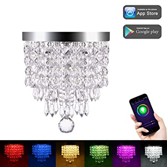 Lohas Wifi Led Kristall Pendelleuchte Rgbw Color Ambiance