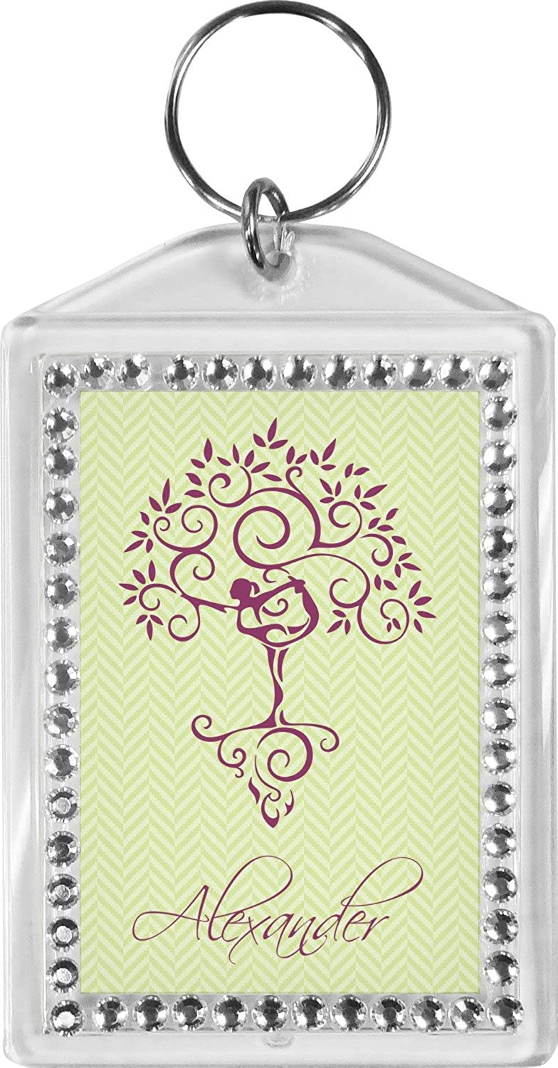 Yoga Tree Bling Keychain (Personalized)