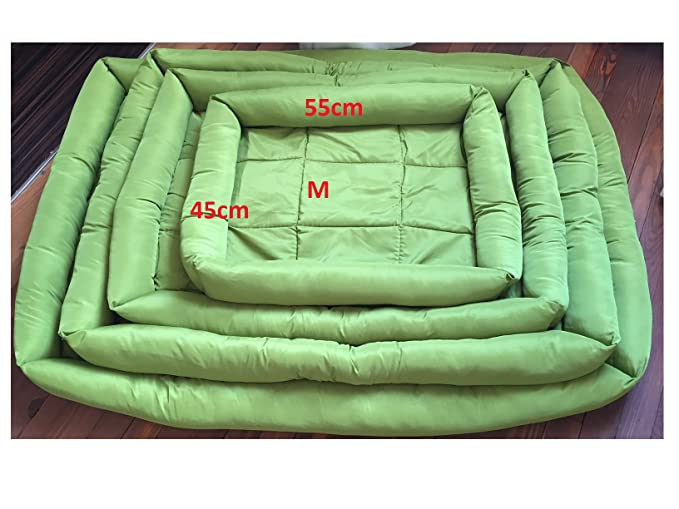 Cama para perros Tamaño M (45 x 55 cm), color verde, se puede limpiar con agua, Oxford Super Cómodo y resistente: Amazon.es: Ropa y accesorios