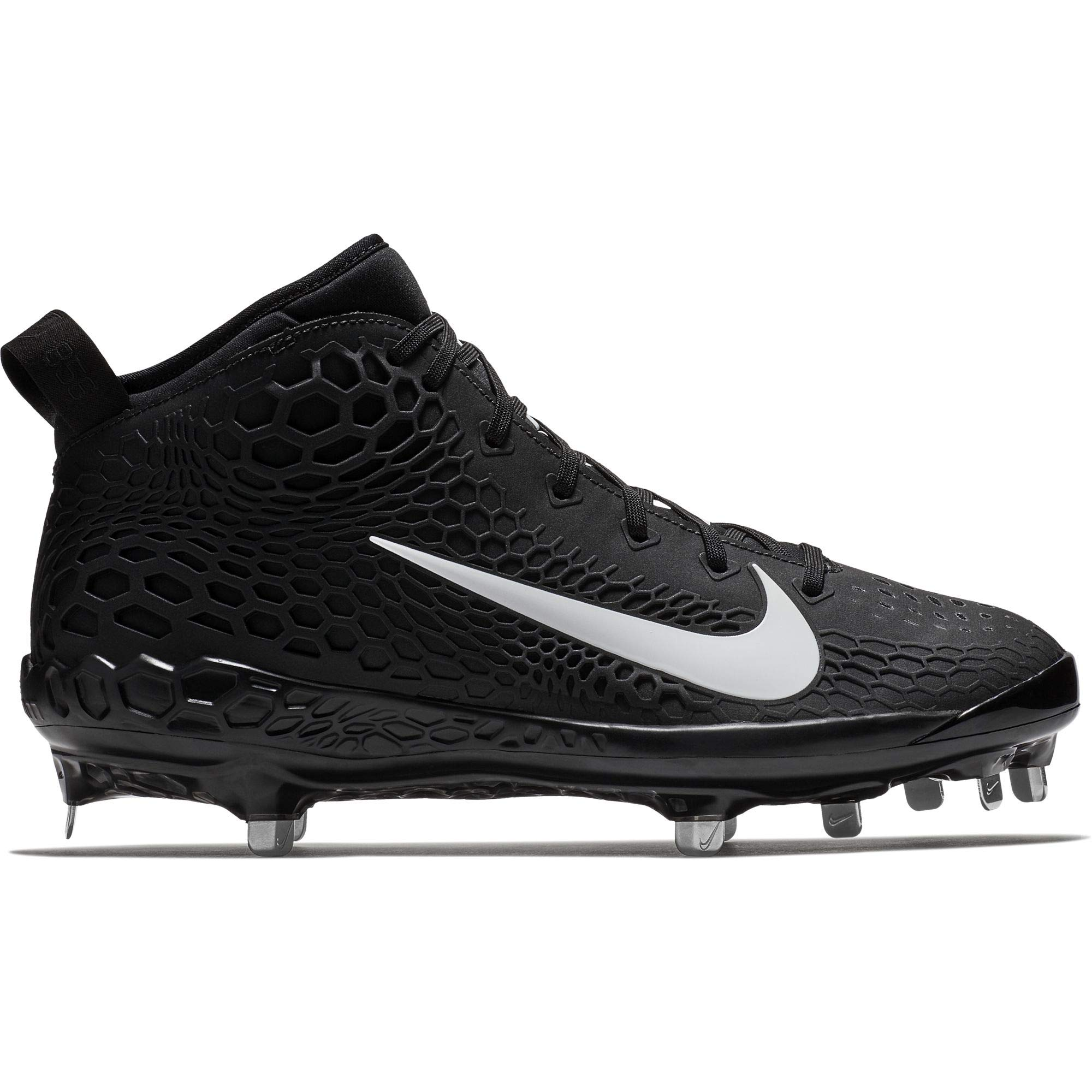 Nike Men's Force Zoom Trout 5 Metal Baseball Cleat Black/White/Oil Grey Size 9.5 M US