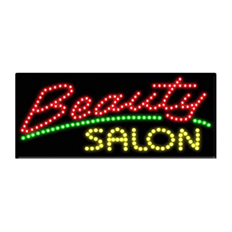 LED Beauty Salon Open Sign Super Bright - Pizarra de ...