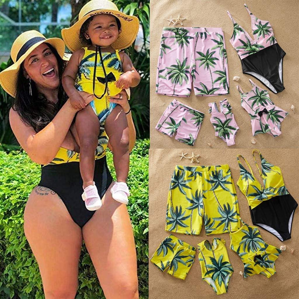 LiLiMeng Children Girls Bikini Beach Flower Print Swimsuit+Shorts Swimwear Set Outfit