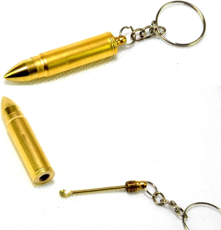 Schlüsselanhänger Patrone Munition Flaschenöffner Gold Anhänger Keychain