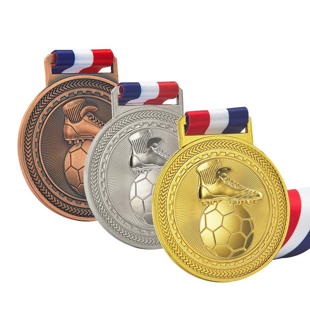 JUN MA スポーツメダル受賞セット ブロンズ イベント、スポーツミーティング ウィンターキャンプ マラソン ユニバーサルコンペティション あらゆるコンテンツに 高耐久性 B07L5JGDTM  フットボール