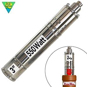 """Bomba para Pozo - Bomba Sumergible para POZOS Profundos/Bomba SUMERGIDA para Pozo Profundo Screw-Star 550-7 Bomba Sumergible Pozo Resistente A Arena (3"""" Screw-Star 550-7)"""