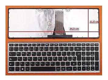 TECLADO COMPATIBLE DE Y PARA PORTATIL IBM Lenovo 25214806 EN ESPAÑOL MARCO PLATA GRIS VER MEDIDAS EN FOTO: Amazon.es: Electrónica