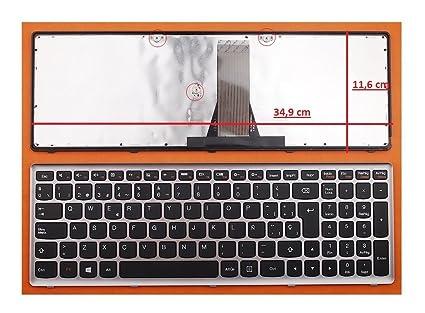 TECLADO COMPATIBLE DE Y PARA PORTATIL IBM Lenovo Z50-70 EN ESPAÑOL MARCO PLATA GRIS