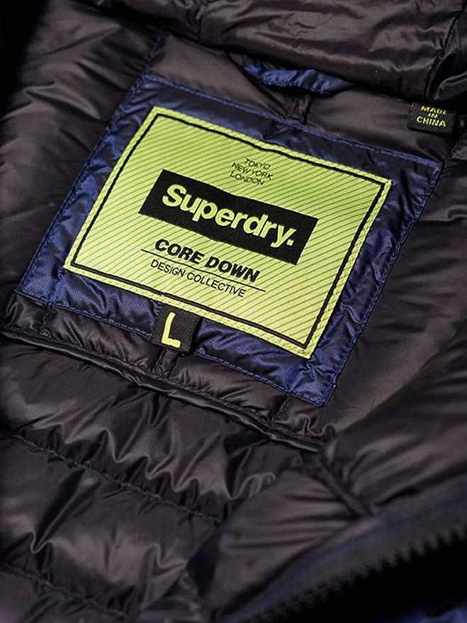 52aae27c0832 Superdry M50000DR Down Jacket Man Blue L: Amazon.co.uk: Clothing