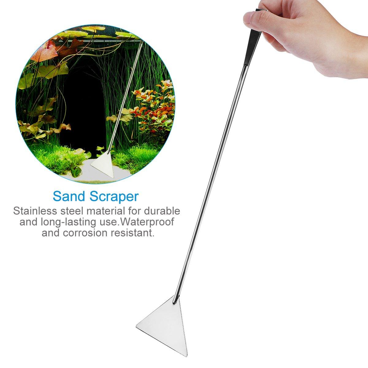 ... Aquascaping Kit 5 en 1 acero inoxidable acuario tanque planta acuática herramientas conjuntos pinzas tijera espátula: Amazon.es: Productos para mascotas